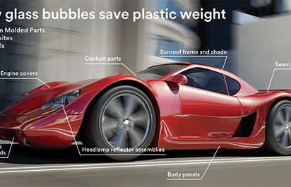 New Glass Bubbles Could Cut Composite Weight by 40%